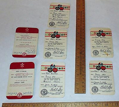 7 - 1966 Boy Scout Cards - Registered / Met Requirements For The Merit Badge