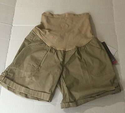 Women's Oh Baby By Motherhood Brown Maternity Shorts Small New