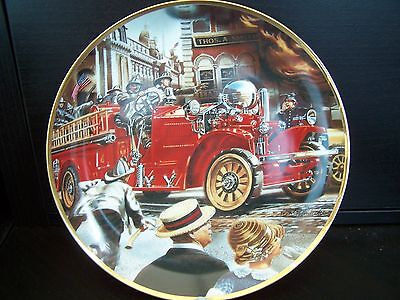 Franklin Mint- National Fire Museum - Heirloom Collectors Plate - Ahrens Fox