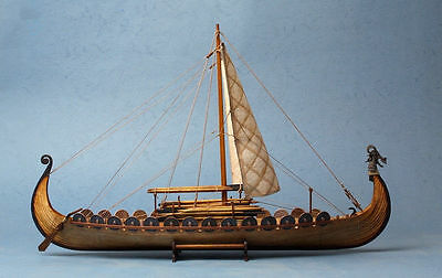 Drakkar Dragon Viking Sailboat Unassembled Wooden Model Boat Ship kit 1/50 scale