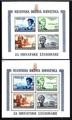 Croatia 1943,2 sheet perforated and unperforated, MNH, luxury quality!