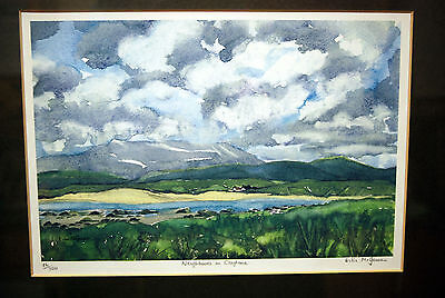 Signed Framed Limited Edition Print by Eilis Mcgowan 'Neighbours in Cloghane'