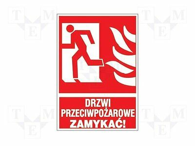 1 pc Fire protection sign; W:200mm; H:300mm; PVC; solid plate