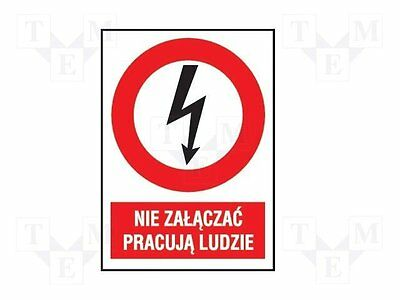 1 pc Safety sign; prohibitory; W:105mm; H:148mm; FS