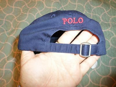 Polo Ralph Lauren Blue & Red Adjustable Hat Cap Youth Boys Kids 4-7