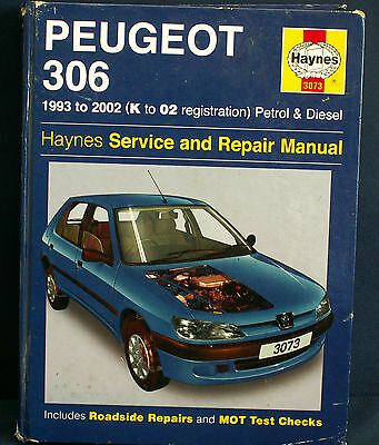 Haynes Service & Repair Manual Peugeot 306 1993 to 2002 (K to 02 reg)