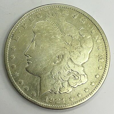 U.S.A. America 1921 Silver Morgan Dollar Eagle Coin