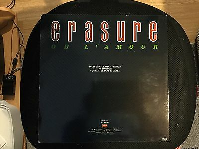 "Oh L'amour Erasure 12"" vinyl single record (Maxi) German INT126.848 MUTE 1986"