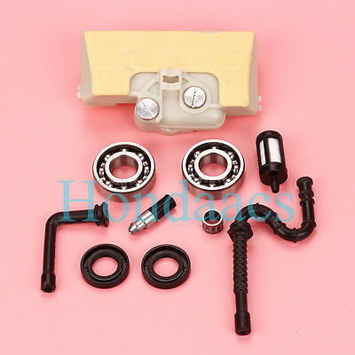 Air fuel Filter Crankshaft Bearing oil seals For Stihl 029 039 MS290 MS310 MS390