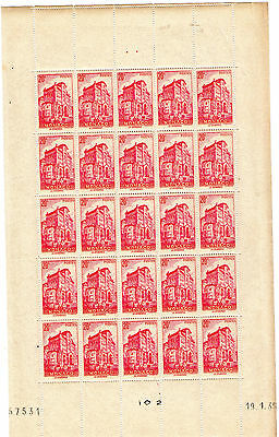 Feuille Entiere Timbres Monaco - N°169 .