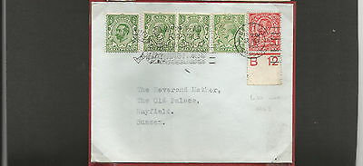 GB Postal History 1961   George V stamps Hastings to Mayfield  1d control