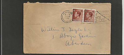 GB Postal History 1961 Glasgow to Aberdeen Edward 8th stamps