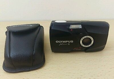 MINT OLYMPUS mju II Ultra Compact All Weather Multi AF 35mm Camera with Case