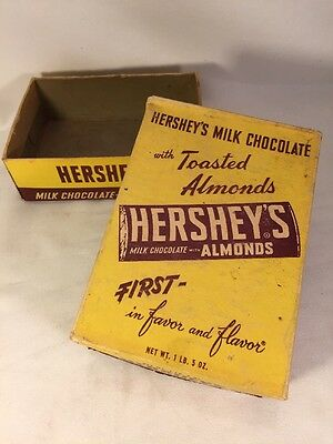 Vintage Hershey's Candy 24 Bars Store Counter Display Box