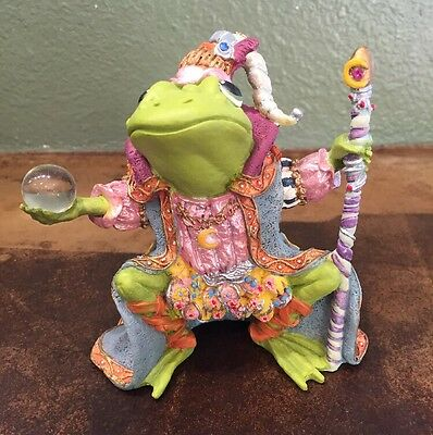 1996 The Hamilton Collection Wizard Of Camelot - Camelot Frog Figurine