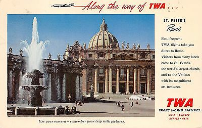 Along the way of TWA St Peters Cathedral Rome Italy