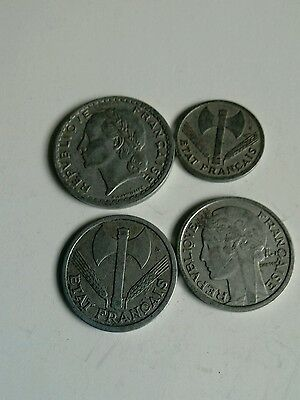 Set of 4 French Coins