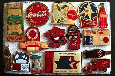 Lot n°2, 15 pins Coca Cola