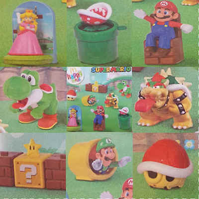 McDonalds Happy Meal Toy 2017 SUPER MARIO Characters Complete set of 8 - PRESALE