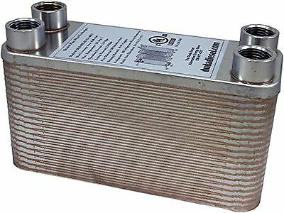 Duda Energy HX1240:HB12 B3-12A 40 Plate Stainless Steel Heat Exchanger wi... New