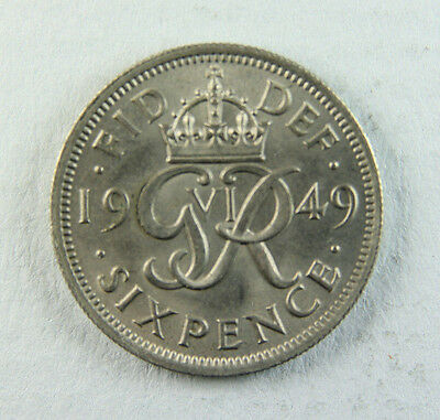 1949 George VI Sixpence; Old album collection!