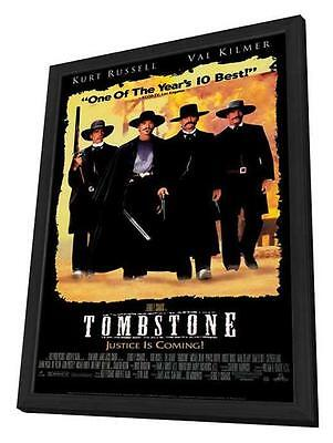 Tombstone Movie POSTER 11 X 17 In Deluxe Wood Frame, Kurt Russell, Val Kilmer, B