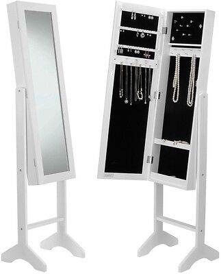 Beautify White Floor Standing Jewellery Storage Cabinet