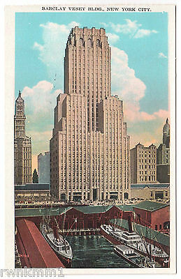 AK US USA Post Card Barclay Vesey Building New York