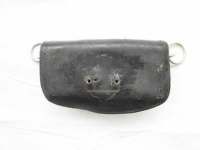 British officers black leather pouch probably Victorian era