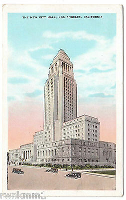 AK US USA Post Card New City Hall Los Angeles ungelaufen