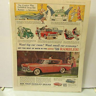 Rambler Car Advertising Print Ad Car Art 1959 Original
