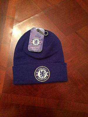 Brand New Chelsea FC Official Football Knitted Beanie Hat