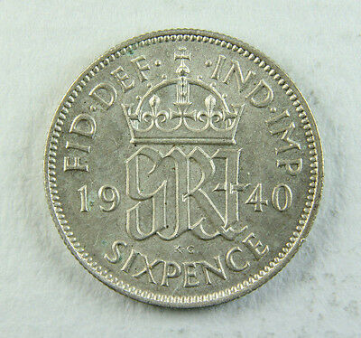 1940 George VI Sixpence; Old album collection!