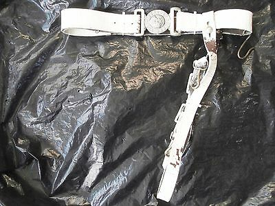 Victorian volunteers white patent leather sword belt and slings