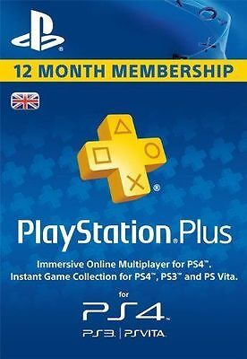 Playstation Plus UK 365 Days 12 Month Membership Card - UK Seller