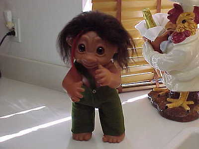"Troll 17"" TH DAM #806 Dated 1979 Original Pants & Glass Eyes Jointed Arm/legs"