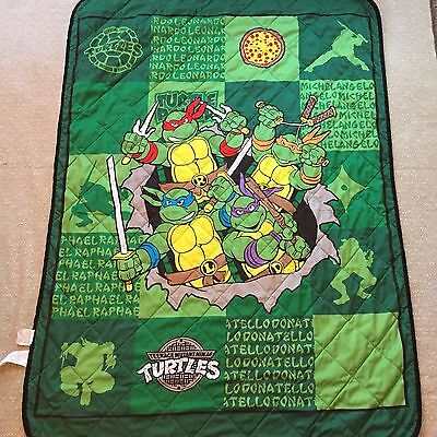 TMNT Teenage Mutant Ninja Turtles Toddler Quilt Blanket Reversible Nickelodeon
