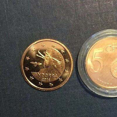 Andorra Coin Euro 2014 5 Cents New Bunc From Roll