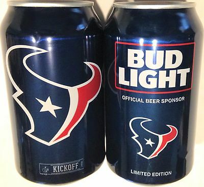 Bud Light Houston Texans 2016 beer 12oz can 665598 Kickoff NFL Limited EditionBO