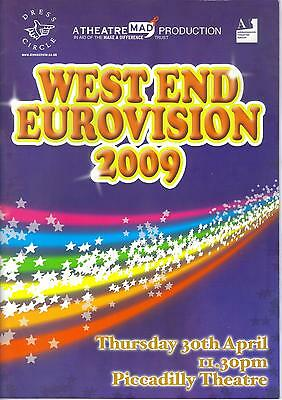 West End Eurovision 2009 official programme