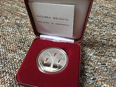 2010 Latvia Declaration of Independence Commemorative Silver Proof Coin