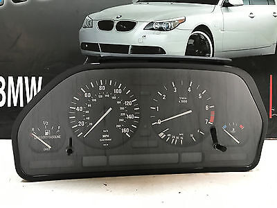 BMW INSTRUMENT CLUSTER SPEEDOMETER FUEL TACH TEMP GUAGE E34 530i 540i 192K Miles