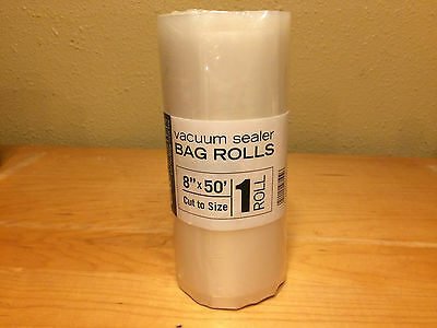 """1 Roll 8"""" x 50' Roll Vacmaster Vacuum Sealer Bags! FREE same day SHIPPING!"""