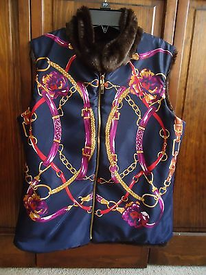 Equestrian Reversible Faux Fur Vest- Bits, etc., Only Worn Once! Size Small- EC!