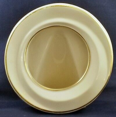 """Lenox Ivory and Gold Memorable Frame Cream w Gold Trim 5"""" Round (3"""" Photo View)"""