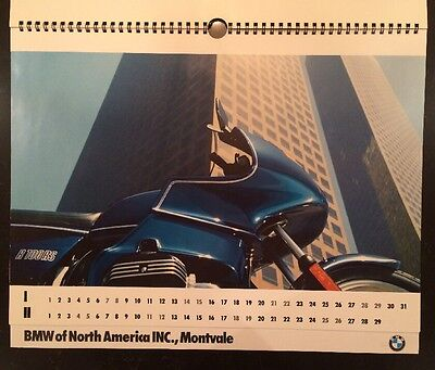 1984 BMW Motorcycle Calendar Posters R100RS R80 R80 RT R80 Printed In W Germany