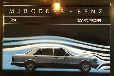 1981 Mercedes Benz S Class W126 US Brochure 380SEL 300SD 1st Year Excellent!!