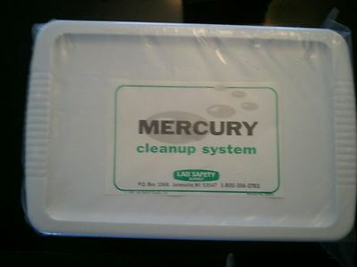 LAB SAFETY SUPPLY 20876 Mercury Cleanup System NEW, Sealed