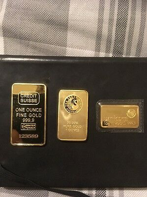 Stunning Collection Of Solid Plated Gold Bars