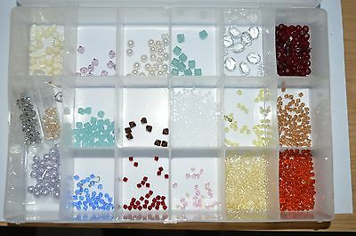 Mixed lot Swarovski crystals and pearls beads jewellery making